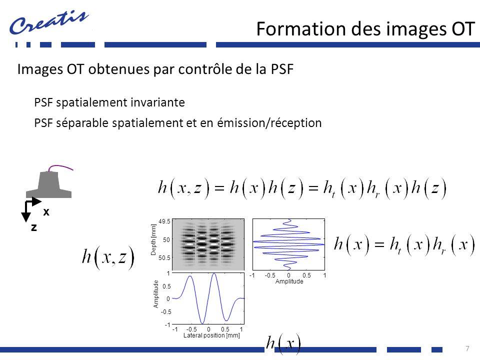 Formation des images OT