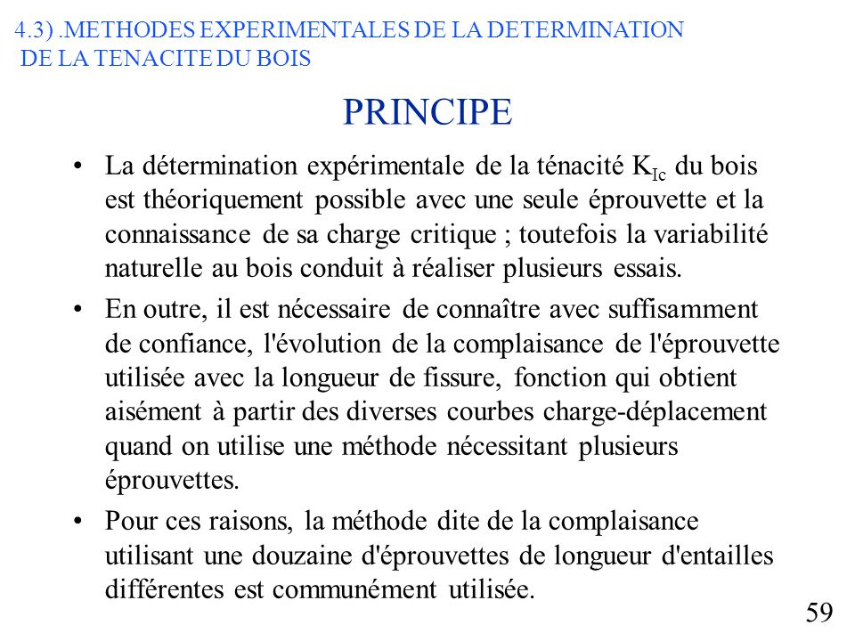 4.3) .METHODES EXPERIMENTALES DE LA DETERMINATION
