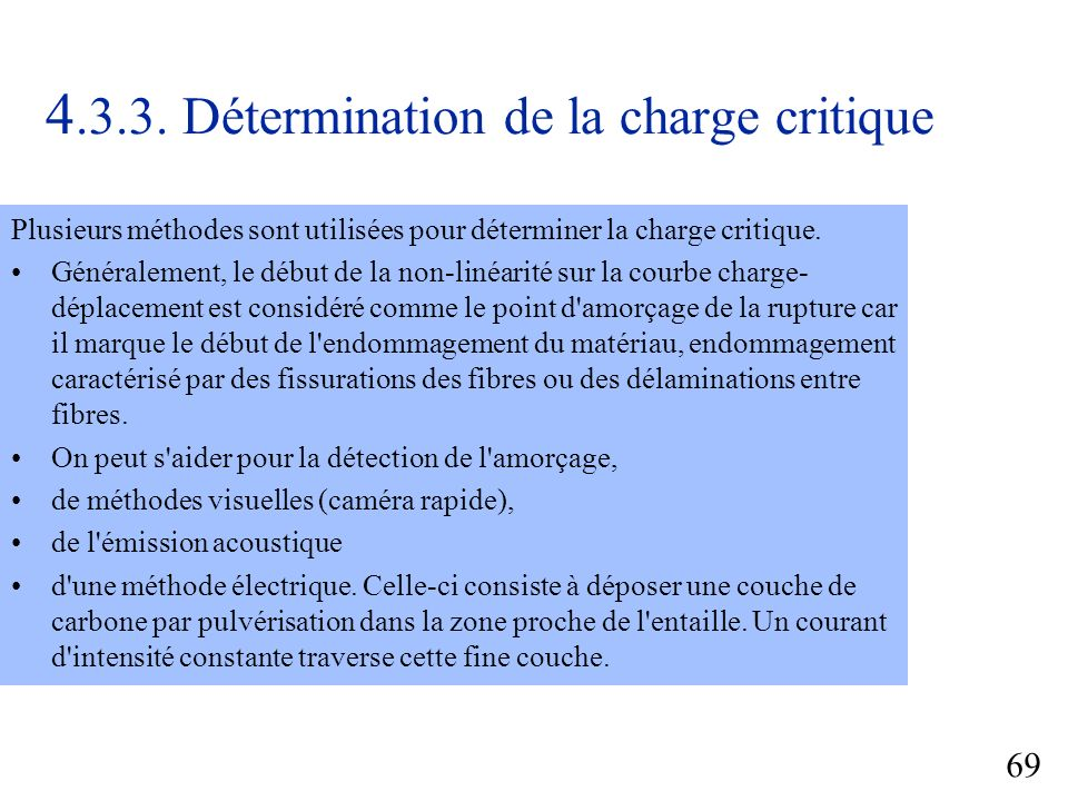 4.3.3. Détermination de la charge critique