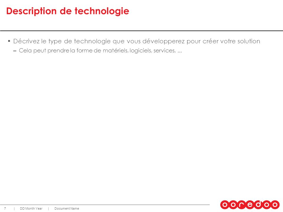 Description de technologie