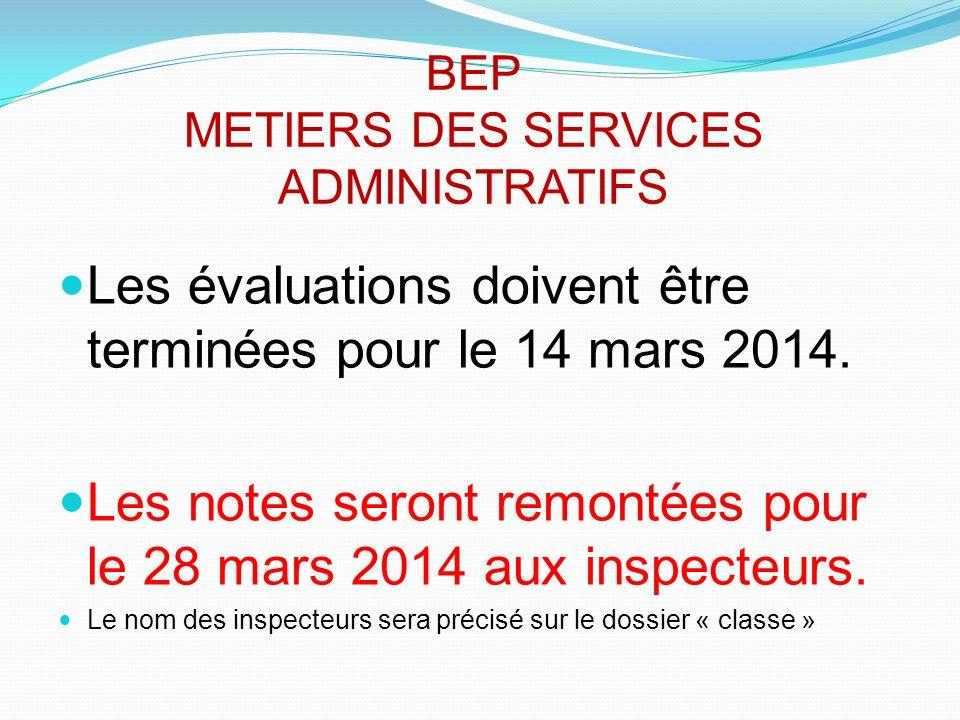 BEP METIERS DES SERVICES ADMINISTRATIFS