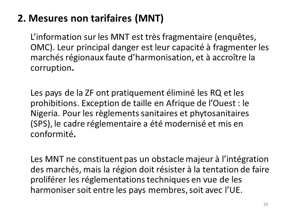 2. Mesures non tarifaires (MNT)