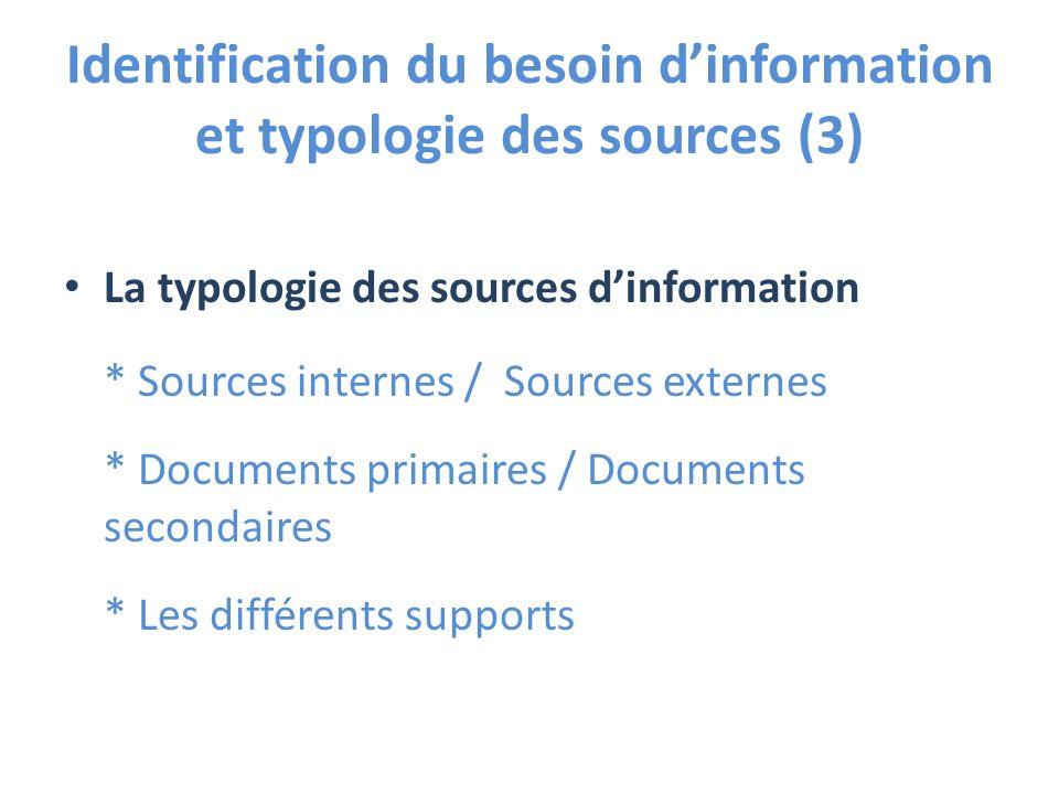 Identification du besoin d'information et typologie des sources (3)