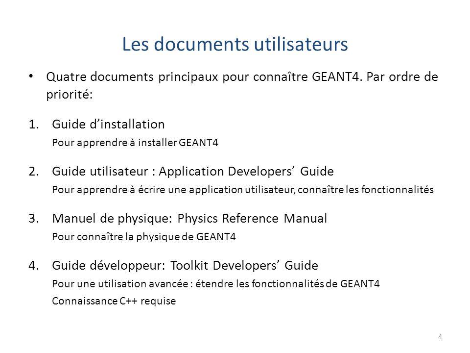 Les documents utilisateurs