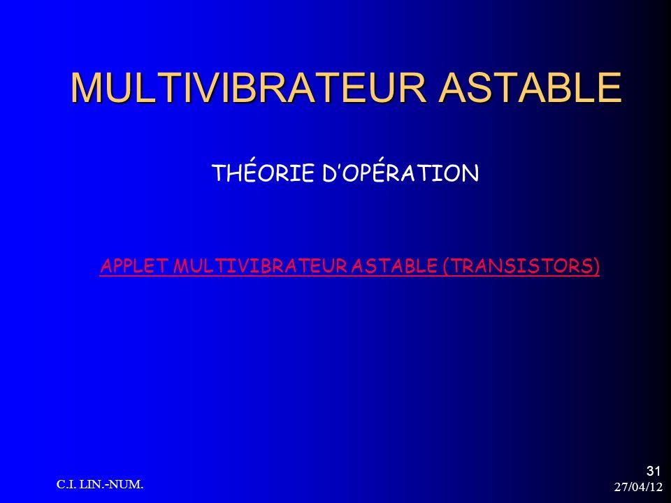 MULTIVIBRATEUR ASTABLE