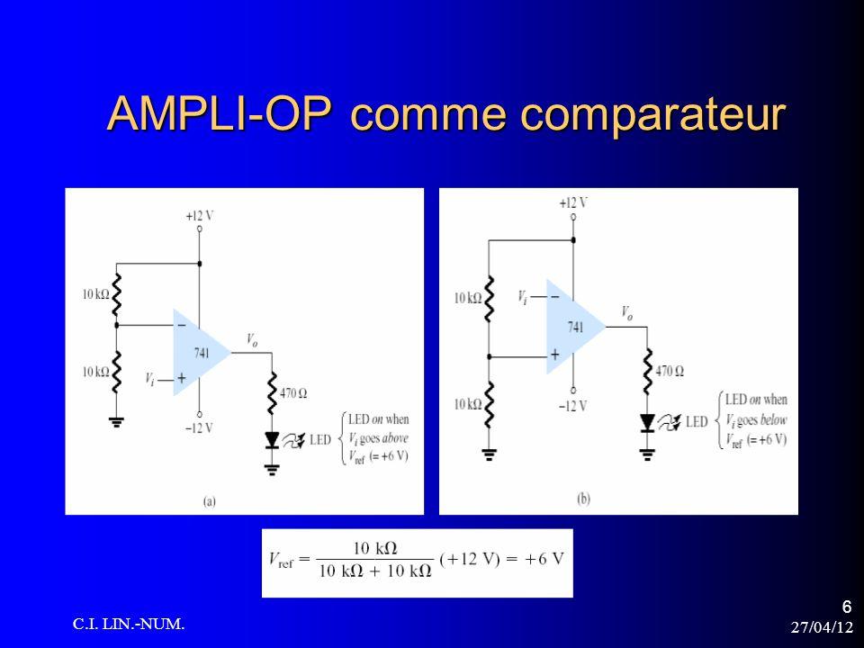 AMPLI-OP comme comparateur