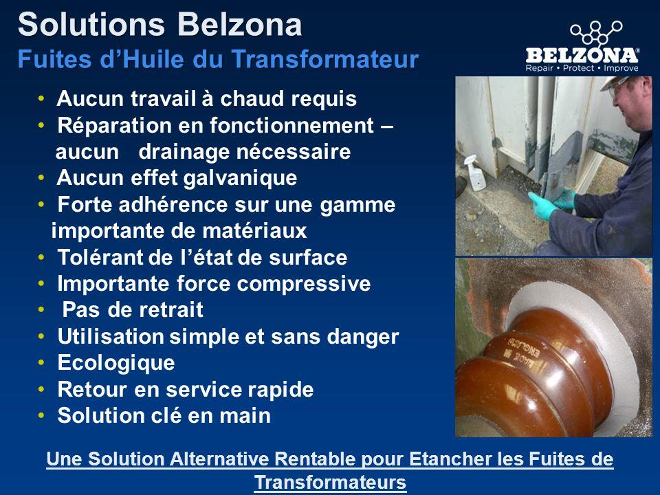 Solutions Belzona Fuites d'Huile du Transformateur