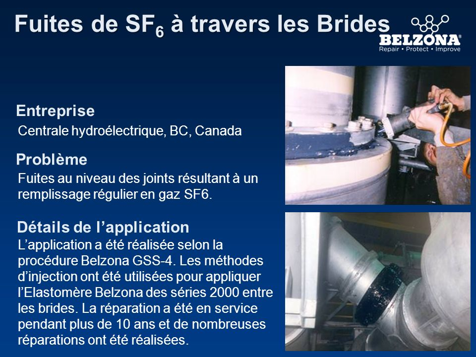Fuites de SF6 à travers les Brides