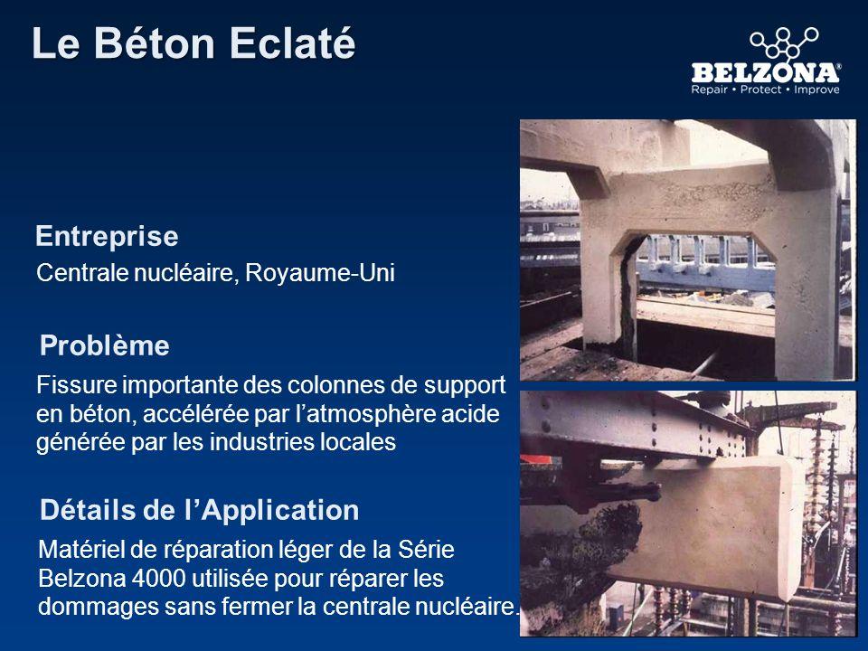 Le Béton Eclaté Entreprise Problème Détails de l'Application