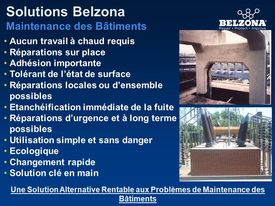 Solutions Belzona Maintenance des Bâtiments