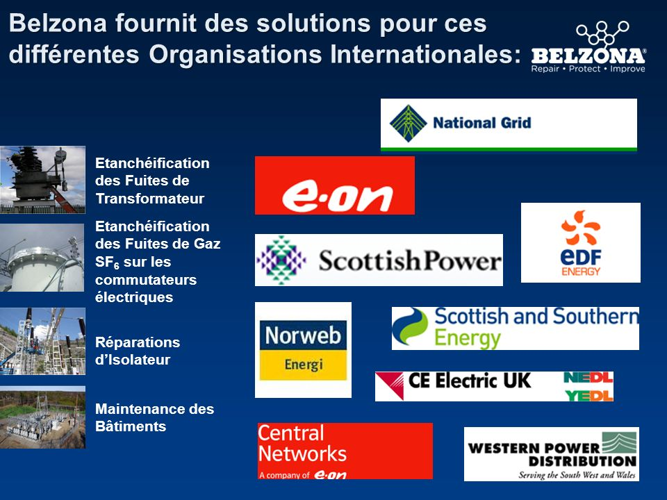 Belzona fournit des solutions pour ces différentes Organisations Internationales:
