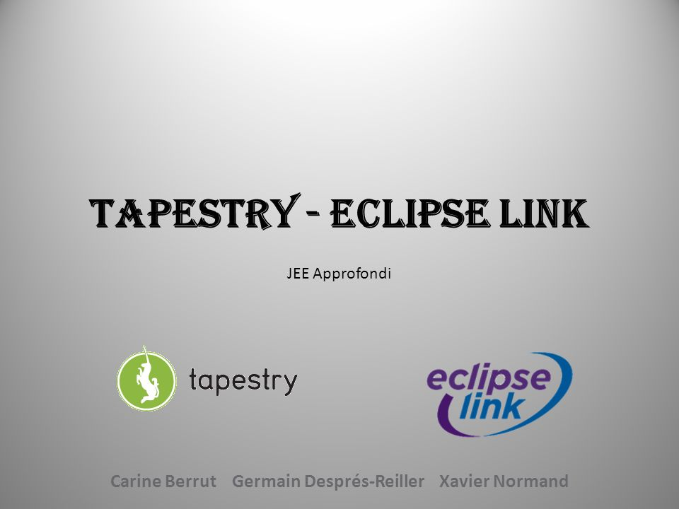 Tapestry - Eclipse Link