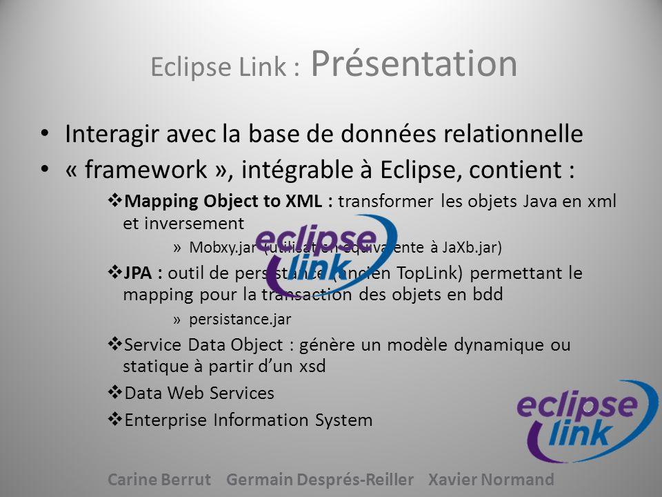 Eclipse Link : Présentation