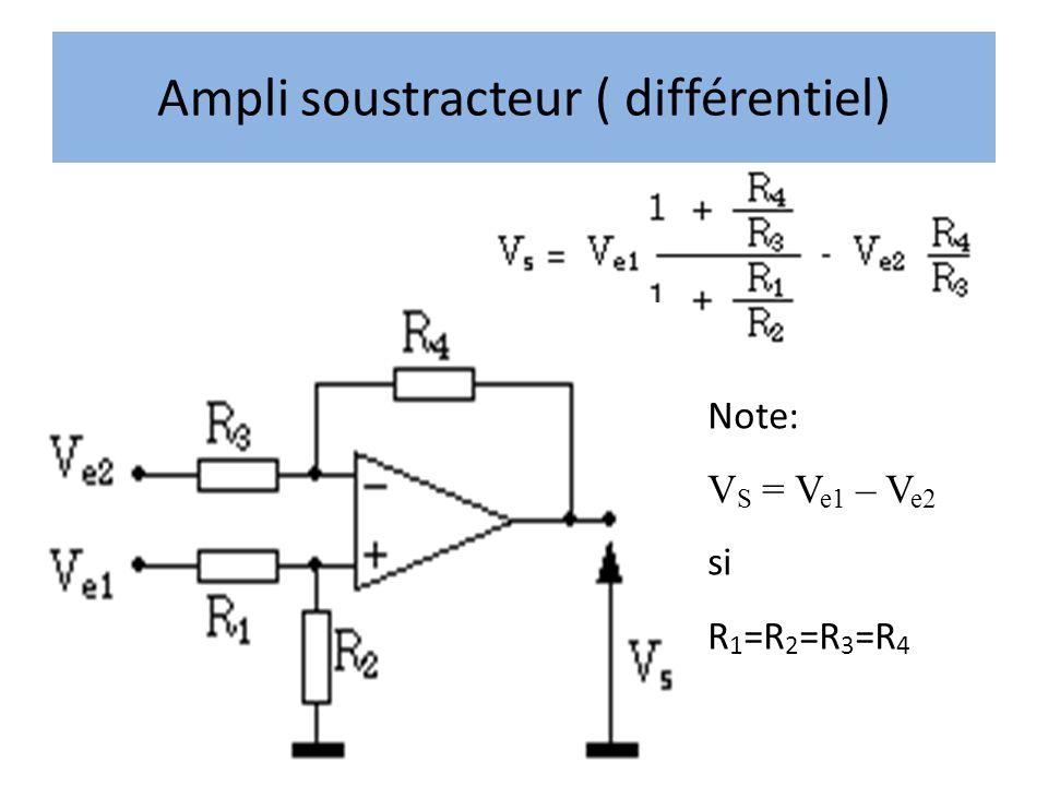 Ampli soustracteur ( différentiel)