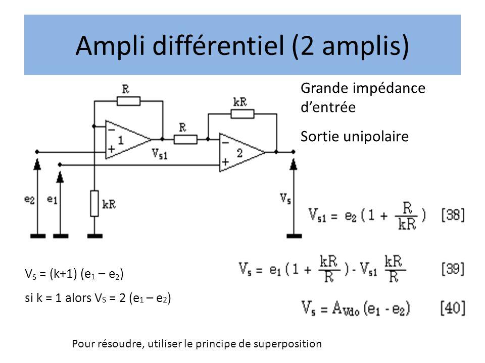 Ampli différentiel (2 amplis)