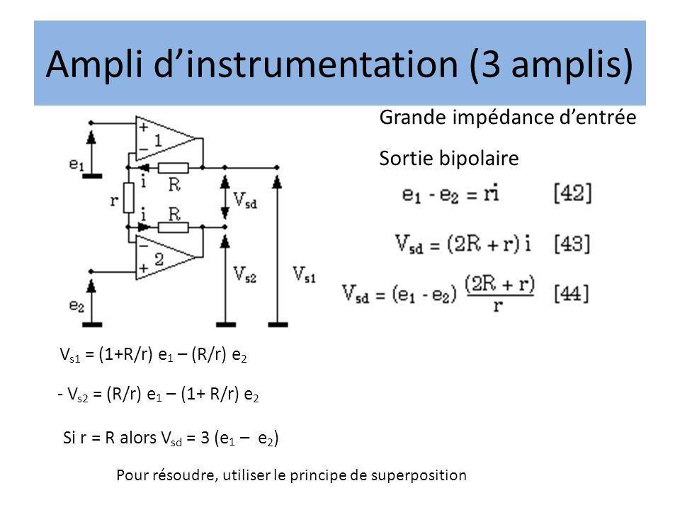 Ampli d'instrumentation (3 amplis)