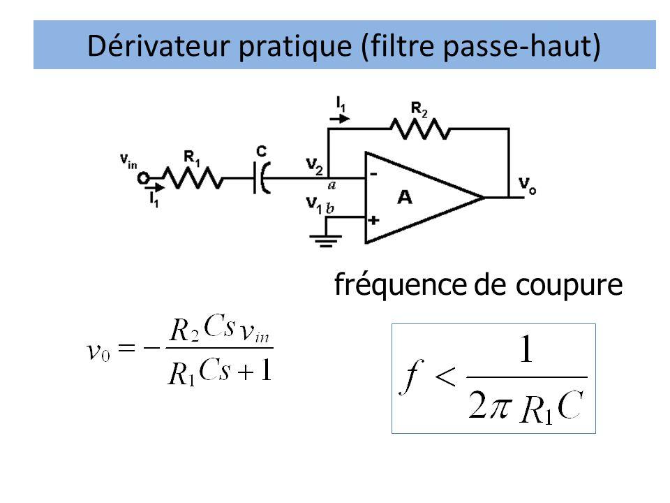 Dérivateur pratique (filtre passe-haut)