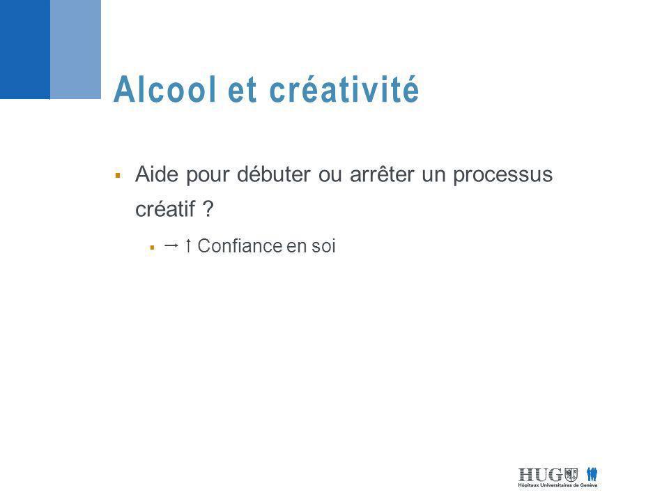 Alcool et créativité Aide pour débuter ou arrêter un processus créatif   Confiance en soi