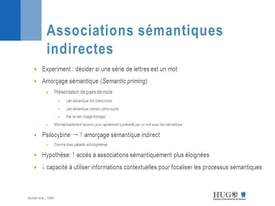 Associations sémantiques indirectes