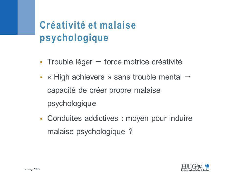 Créativité et malaise psychologique