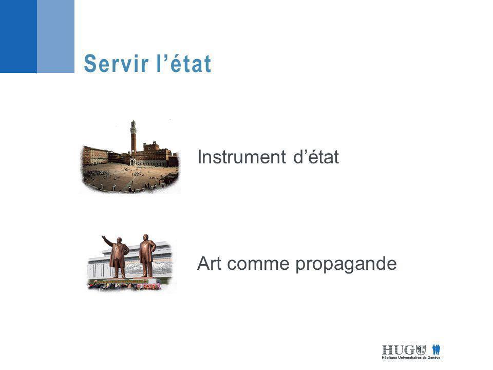Servir l'état Instrument d'état Art comme propagande