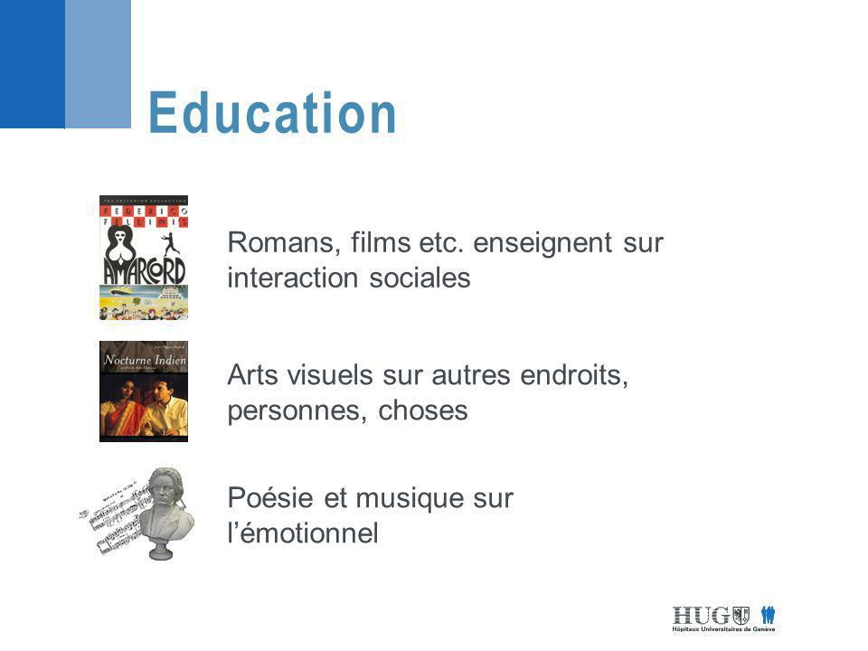 Education Romans, films etc. enseignent sur interaction sociales