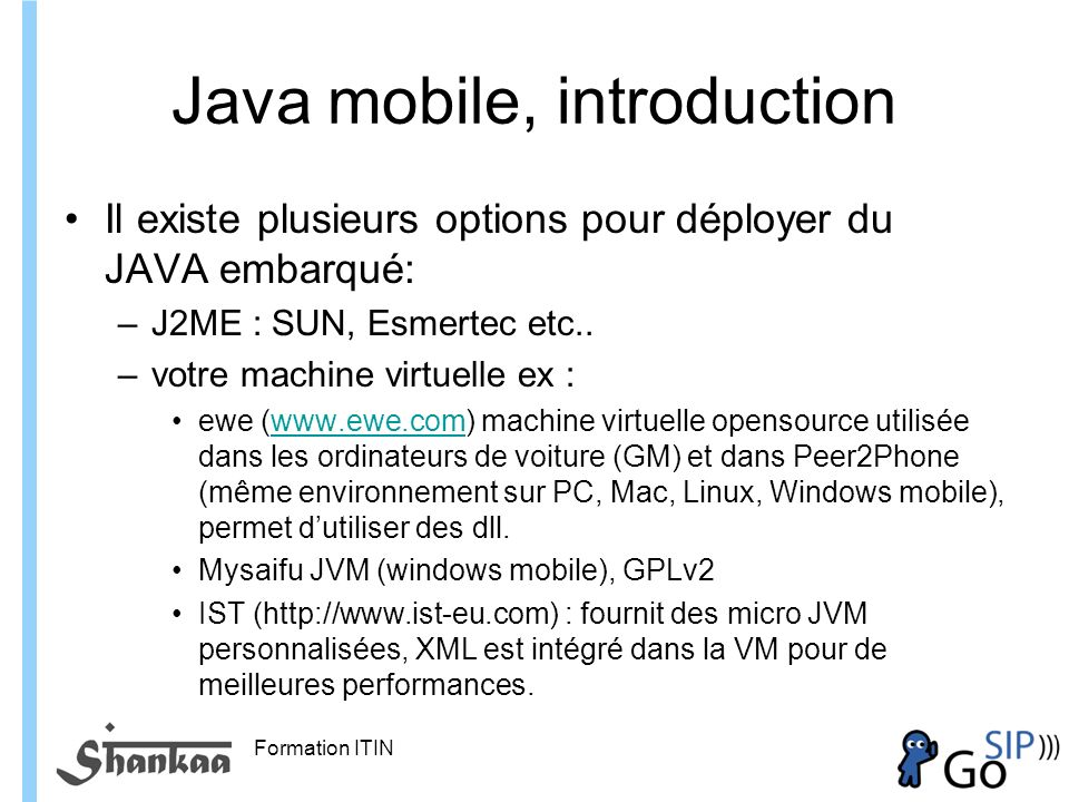 Java mobile, introduction