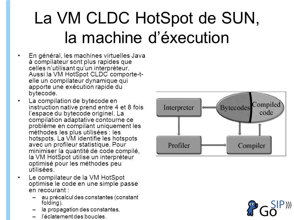 La VM CLDC HotSpot de SUN, la machine d'éxecution