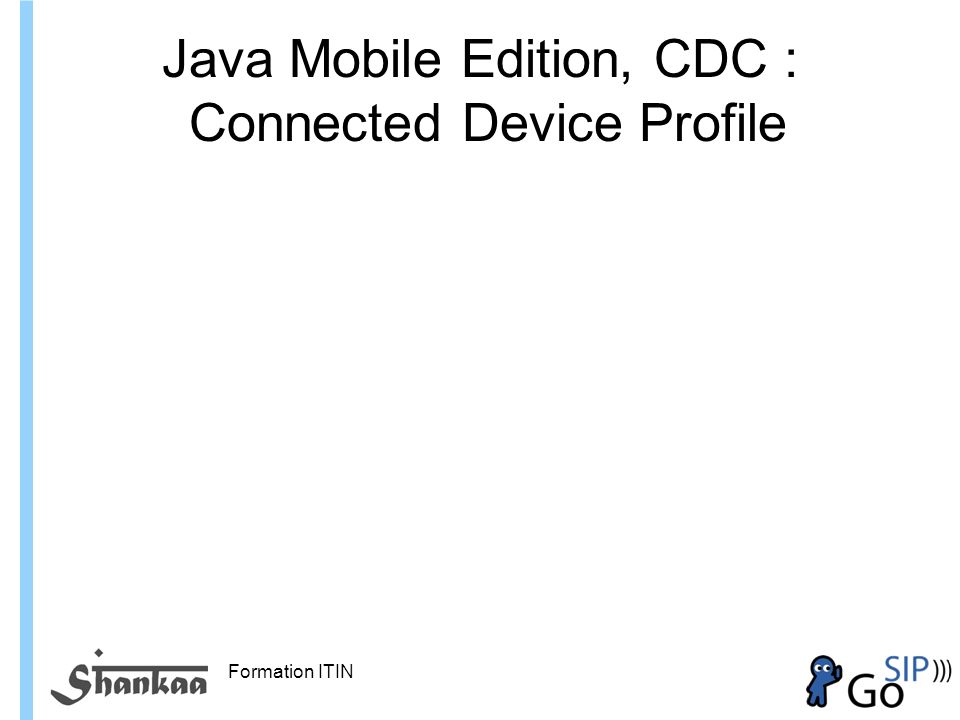 Java Mobile Edition, CDC : Connected Device Profile
