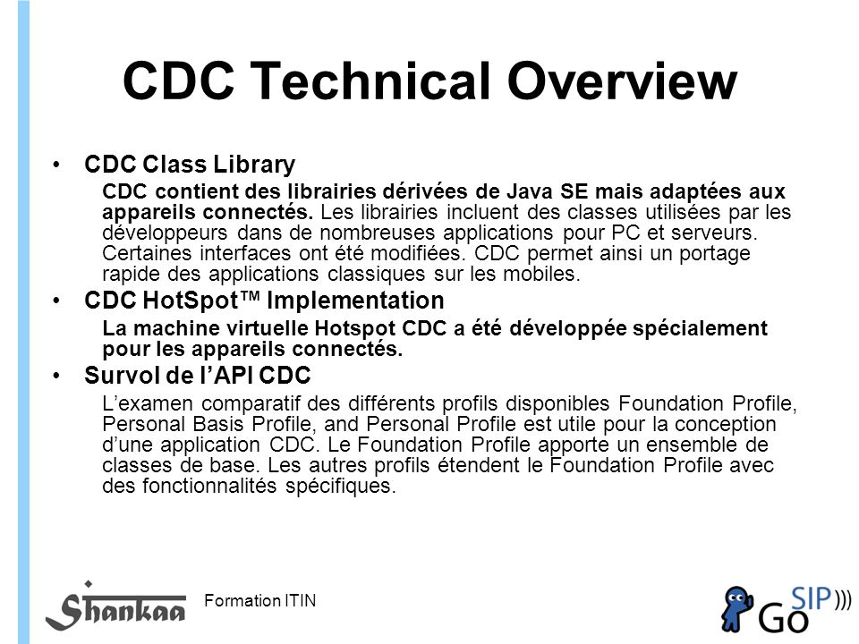 CDC Technical Overview