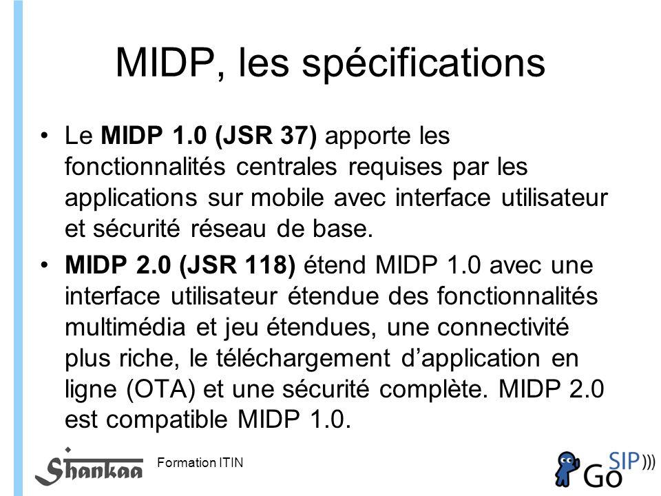 MIDP, les spécifications