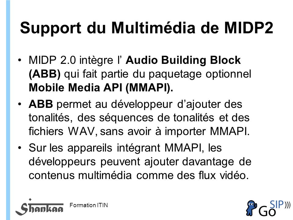 Support du Multimédia de MIDP2