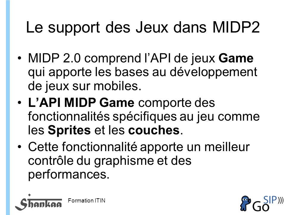 Le support des Jeux dans MIDP2
