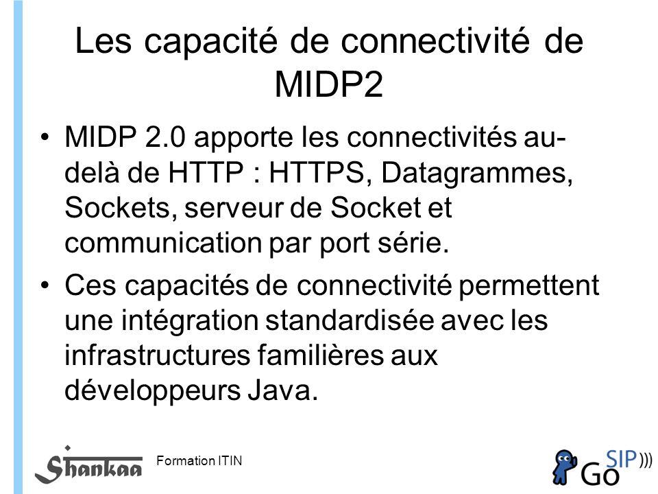 Les capacité de connectivité de MIDP2