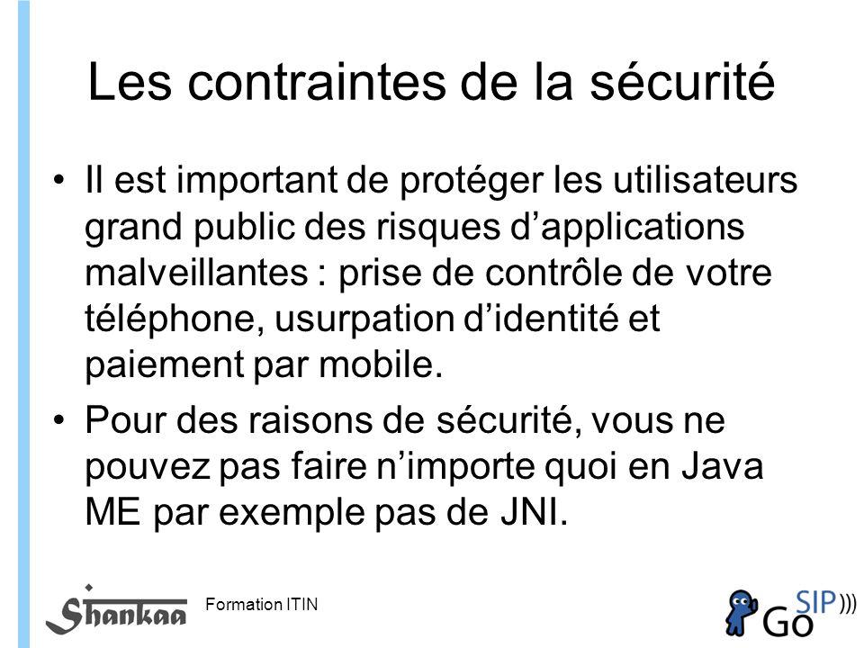 Les contraintes de la sécurité