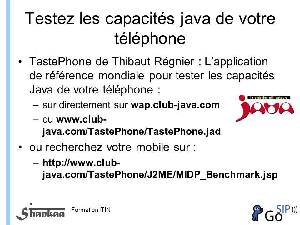 Testez les capacités java de votre téléphone