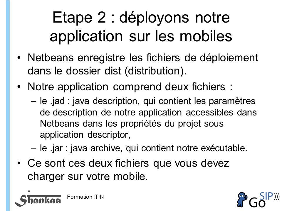 Etape 2 : déployons notre application sur les mobiles