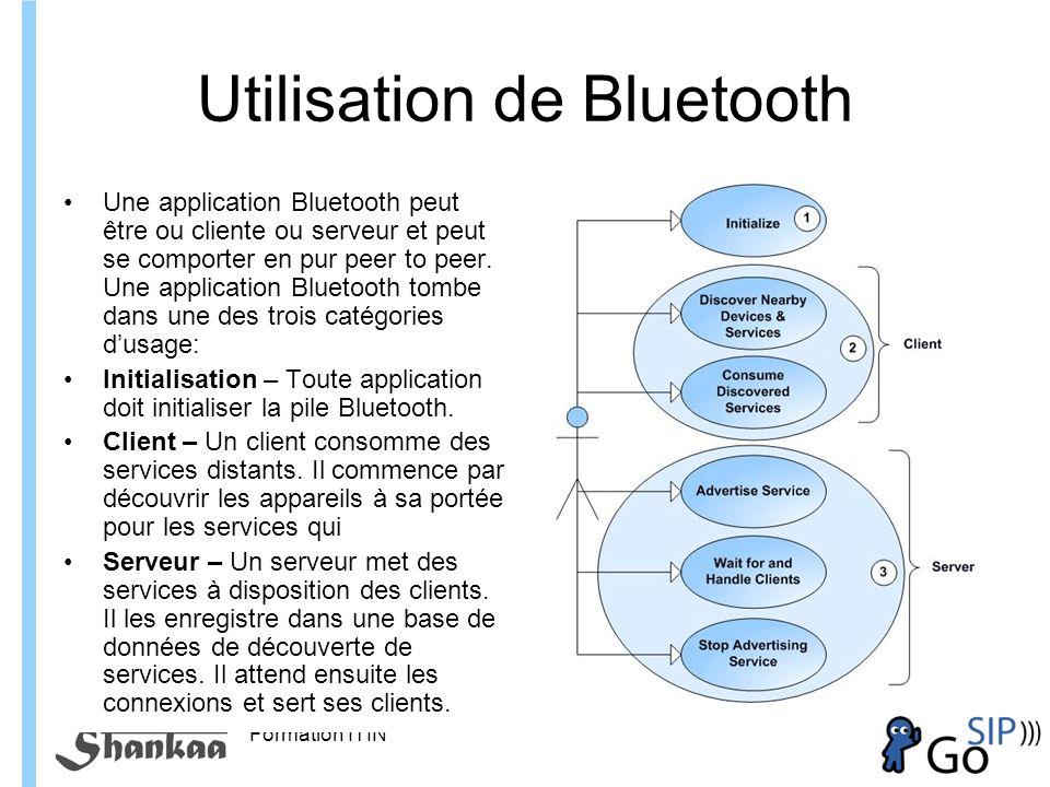 Utilisation de Bluetooth
