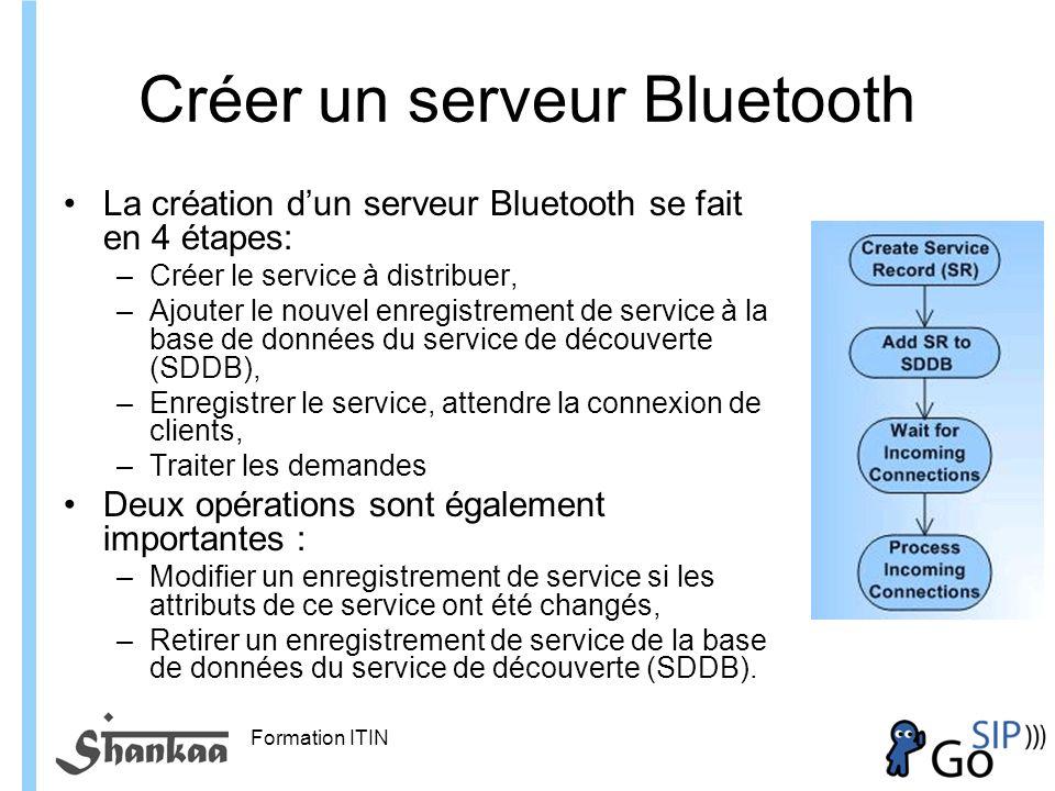 Créer un serveur Bluetooth