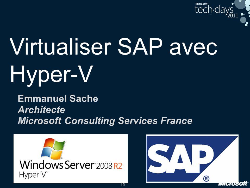 Virtualiser SAP avec Hyper-V