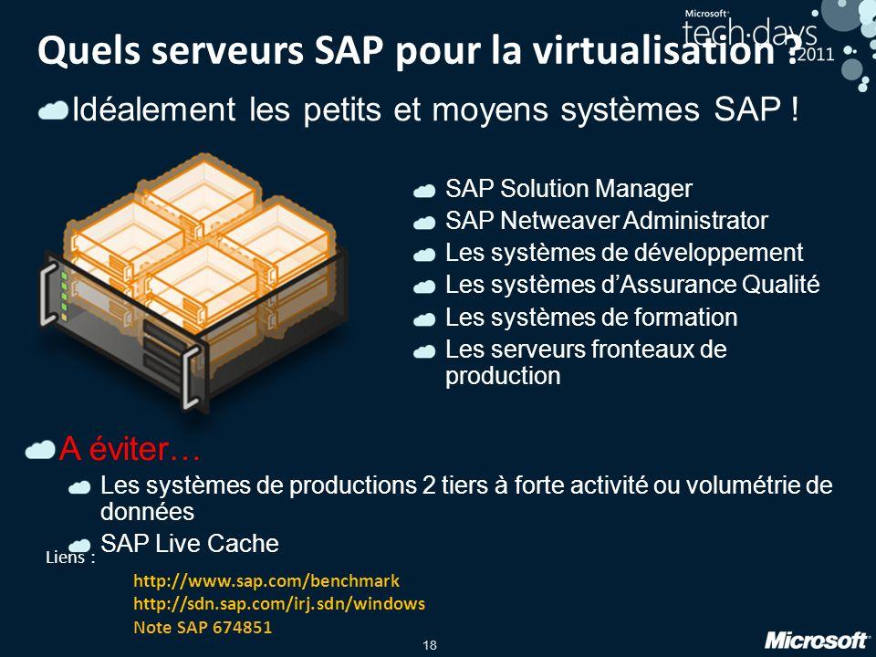 Quels serveurs SAP pour la virtualisation