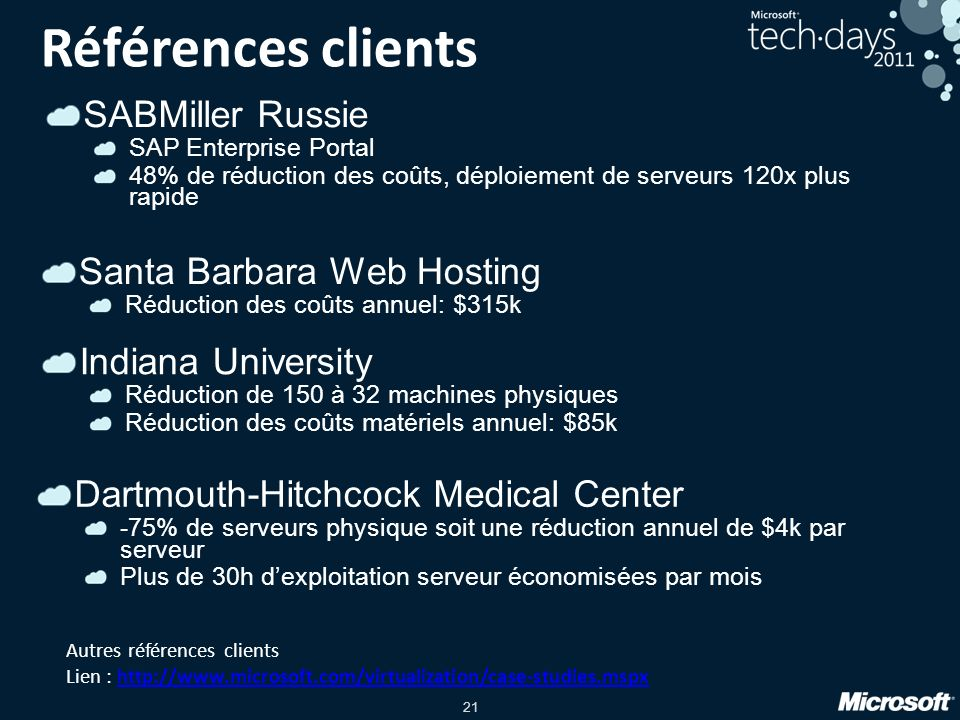 Références clients SABMiller Russie Santa Barbara Web Hosting
