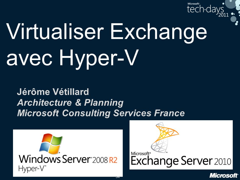 Virtualiser Exchange avec Hyper-V
