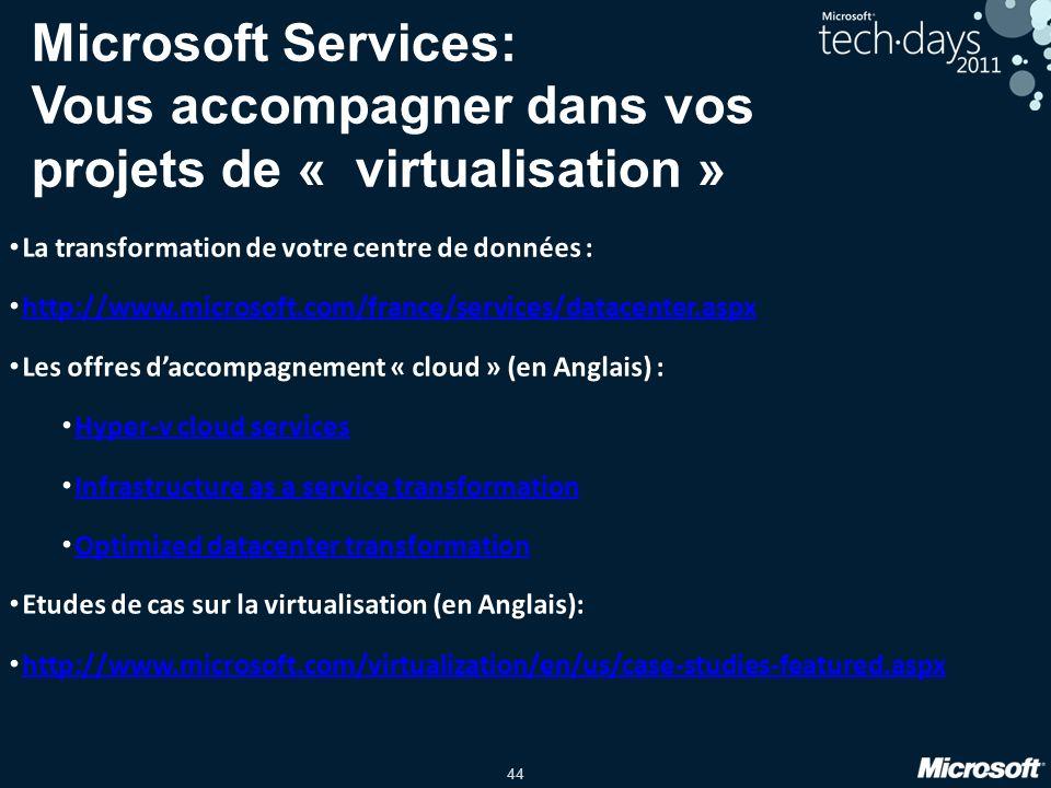 Microsoft Services: Vous accompagner dans vos projets de « virtualisation »