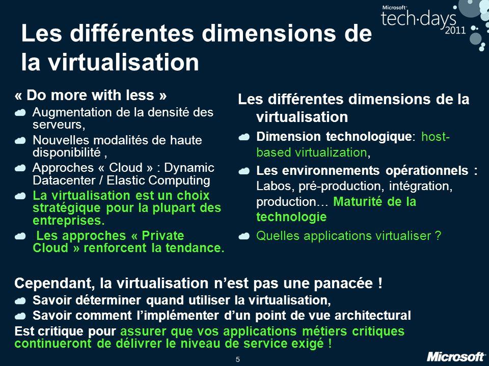 Les différentes dimensions de la virtualisation