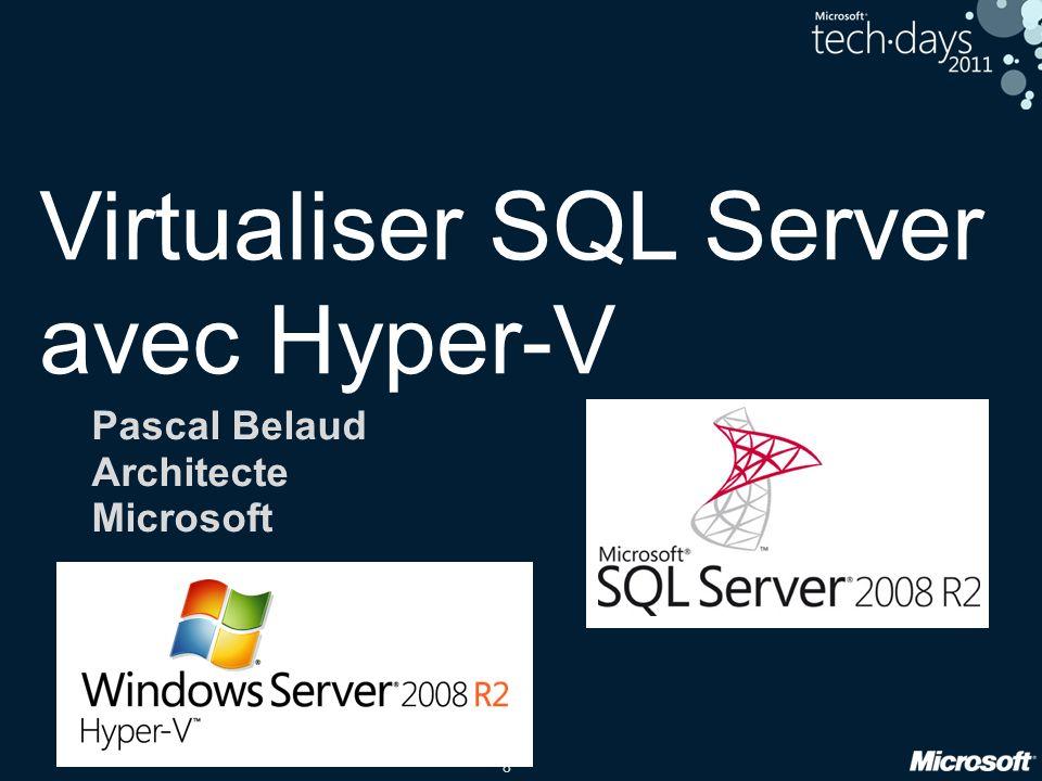 Virtualiser SQL Server avec Hyper-V