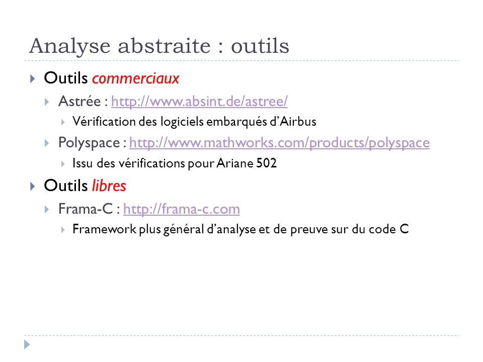 Analyse abstraite : outils