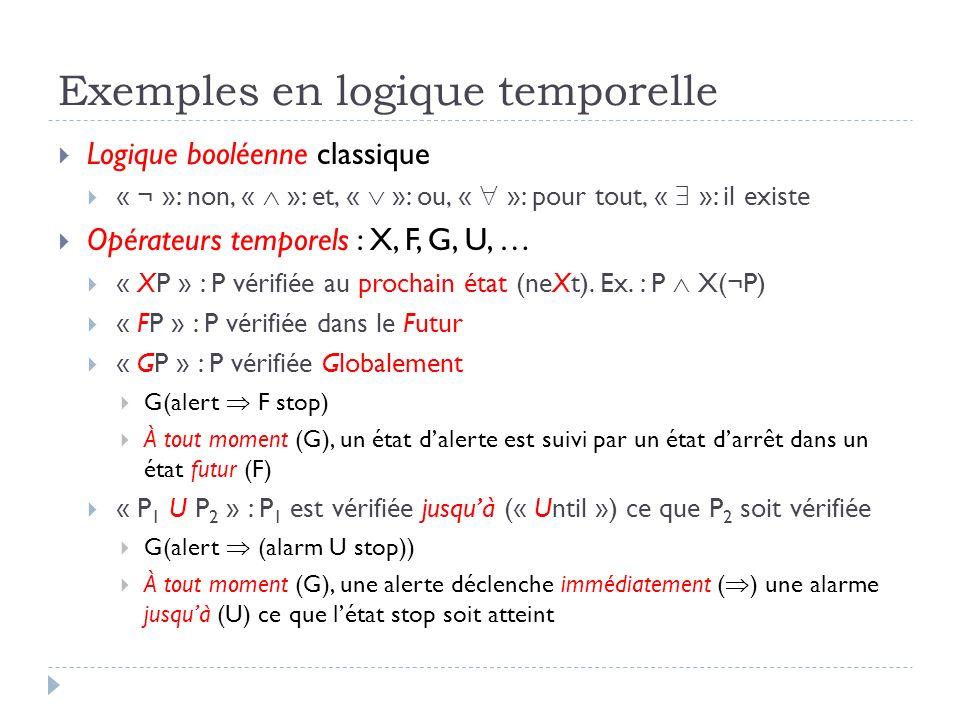 Exemples en logique temporelle
