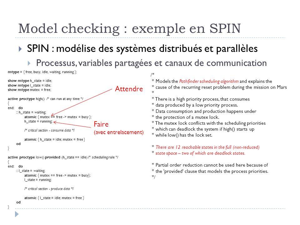 Model checking : exemple en SPIN