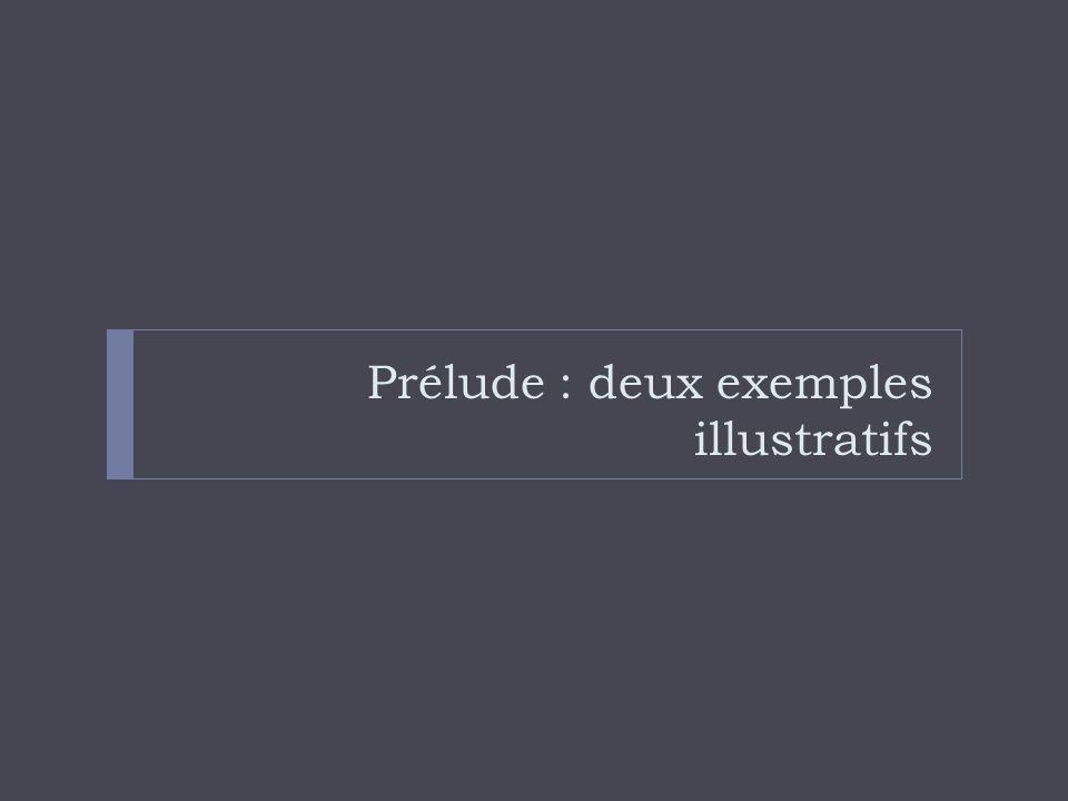 Prélude : deux exemples illustratifs